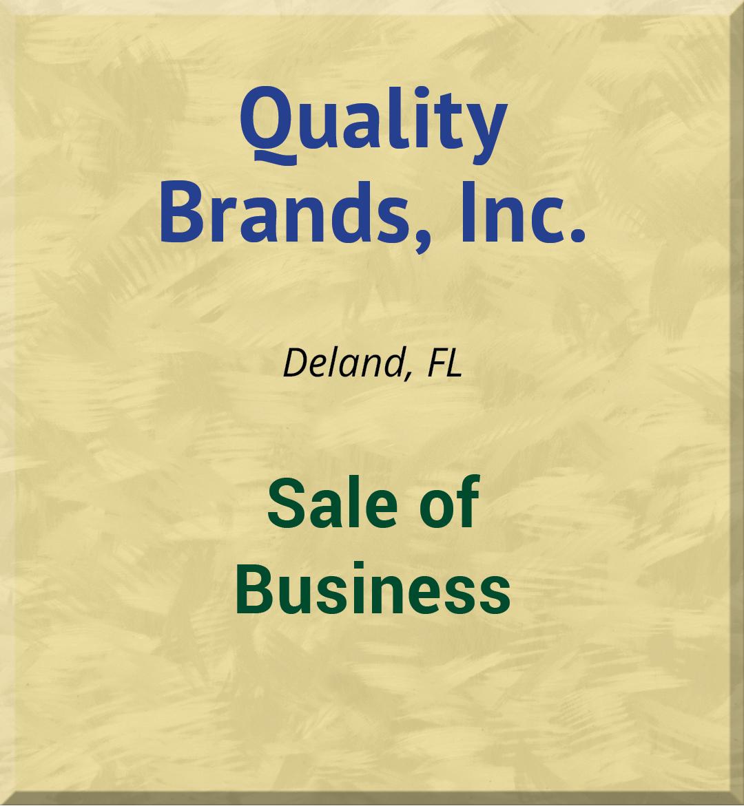 Quality Brands, Inc.