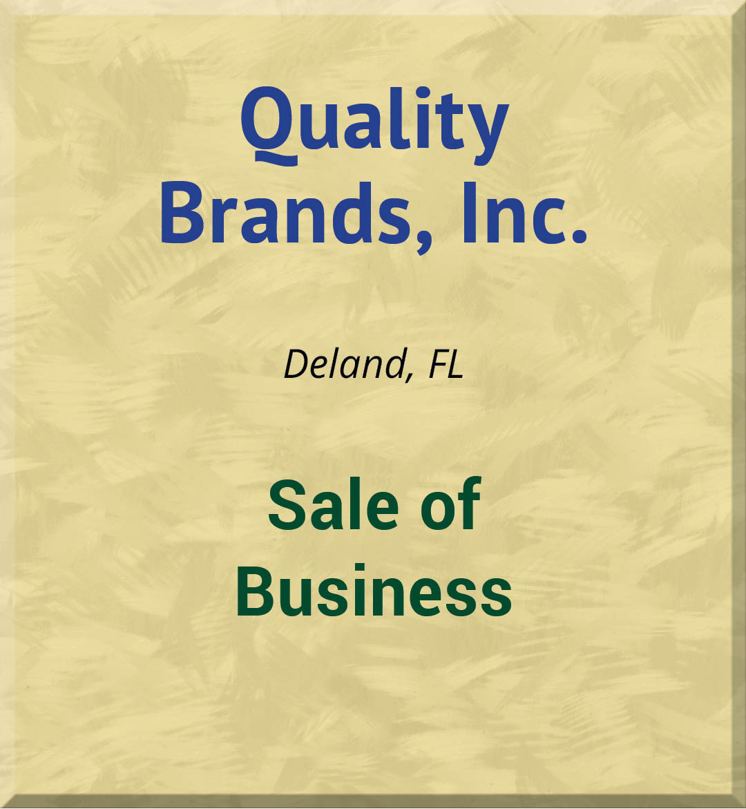 Quality Brands, Inc.
